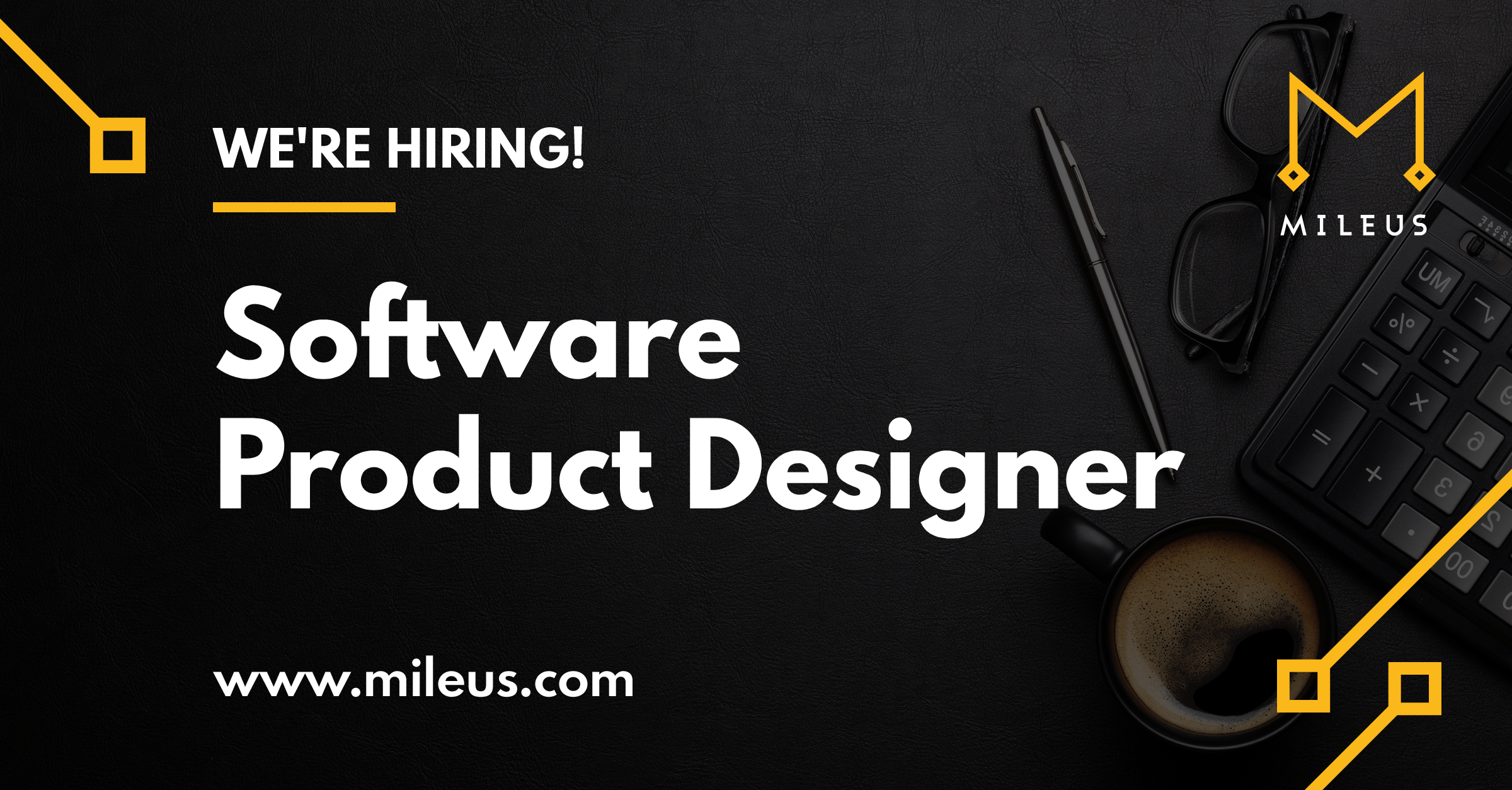 Hiring graphic image for the role of Software Product Designer