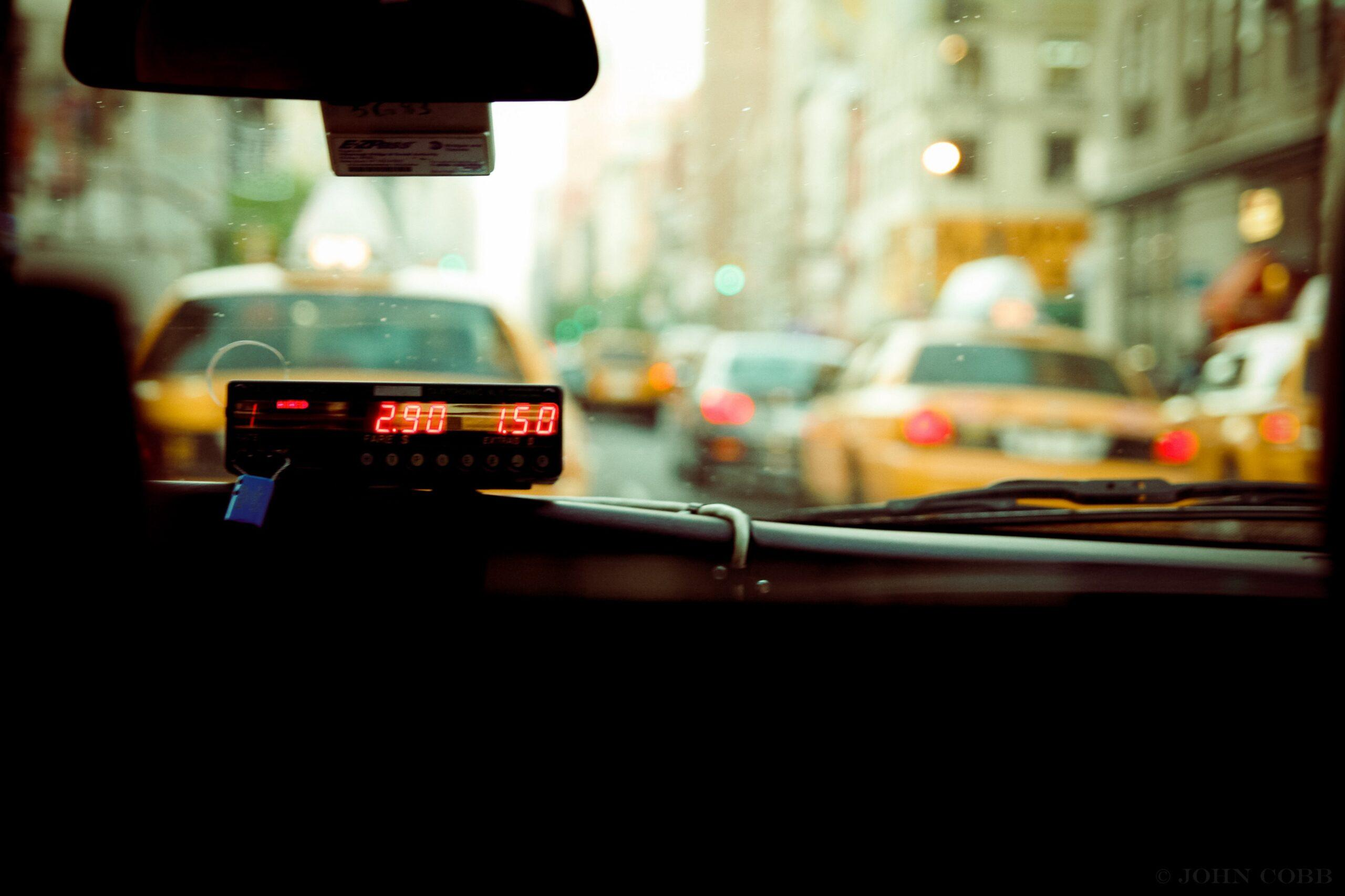 Taxi from inside