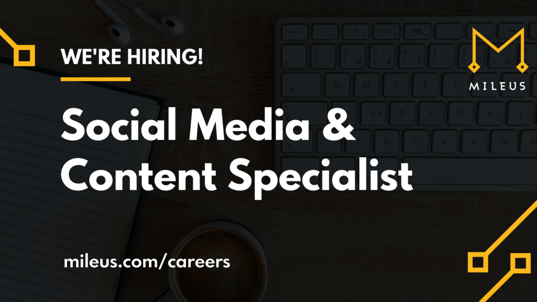 Hiring graphic image for the role Social Media & Content Specialist