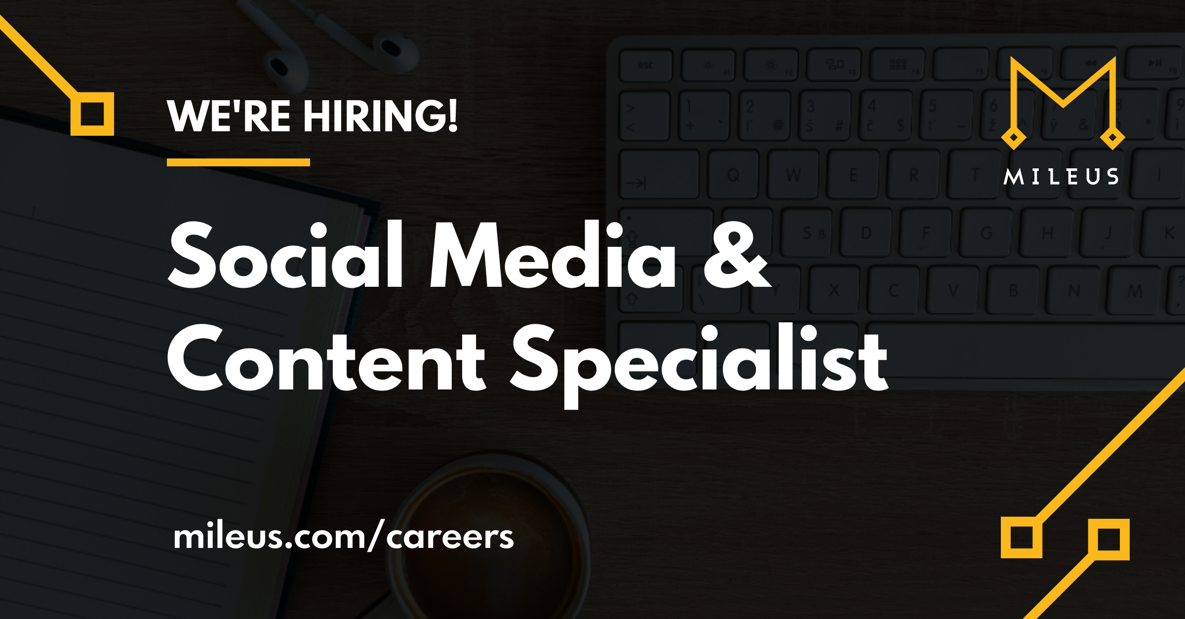 Hiring graphic image for the role Social Media &Content Specialist